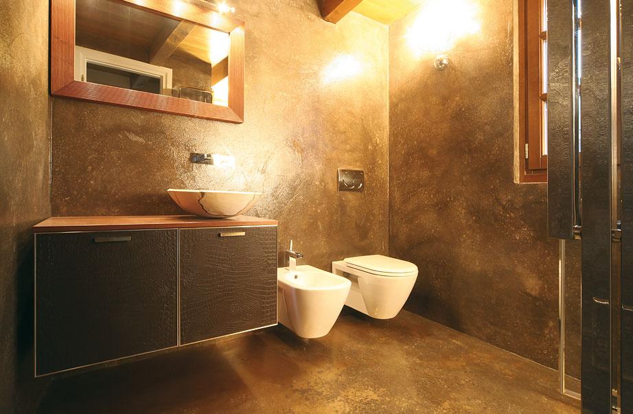 Casa vogue imbiancatura decorazione di interni finti - Bagno con resina ...